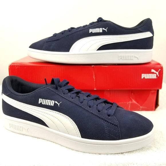 3ed6c073875 Puma Shoes | Smash V2 Sneaker 364989 04 Peacoat White Euc | Poshmark